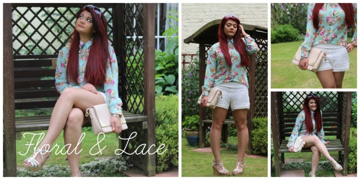 OOTD: Floral Shirt & LaceShorts
