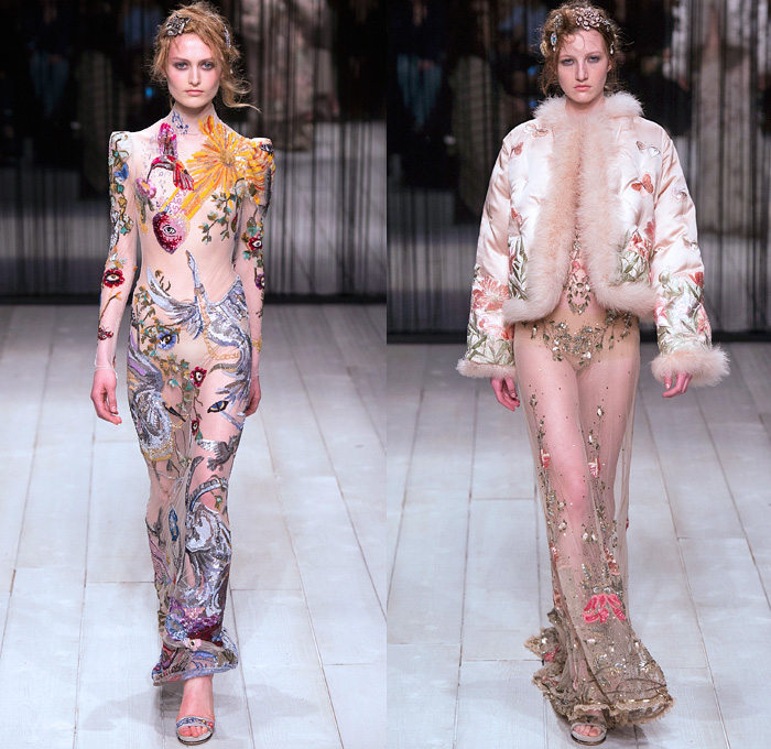 alexander-mcqueen-2016-2017-fall-autumn-winter-womens-london-fashion-unicorn-embroidery-gown-lace-butterfly-denim-jeans-observer-16x